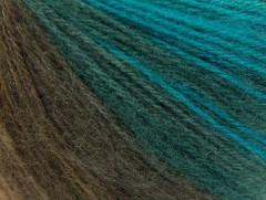 Angora design new - tyrkysovohnědozelená