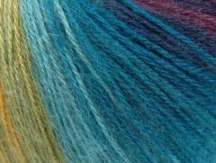 Angora design new - zlatozelenotyrkysovopurpurovokaštanová