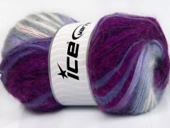 Angora elite - purpurovofuchsiovofialovo odstínybílá