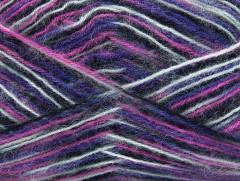 Angora supreme color - černošedopurpurovorůžová