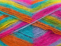 Angora supreme color - fuchsiovotyrkysovožlutozelená