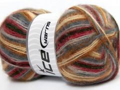 Angora supreme color - hnědošedofuchsiová