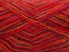 Angora supreme color - purpurovočervenooranžovožlutá