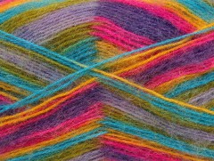 Angora supreme color - purpurovofuchsiovotyrkysovozelenofialová