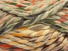Astoria - hnědozlatozelenooranžová