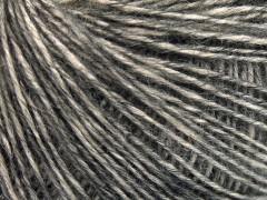 Baby alpaka merino bavlna - antracitově černá