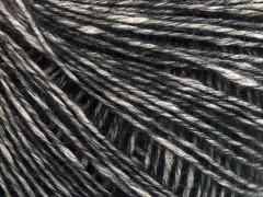 Baby alpaka merino bavlna - černá
