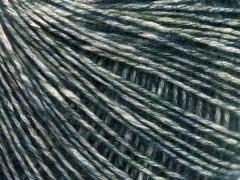 Baby alpaka merino bavlna - modrozelená