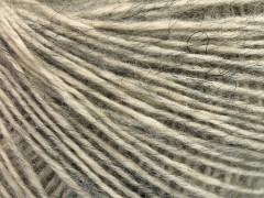 Baby alpaka merino bavlna - světle šedá