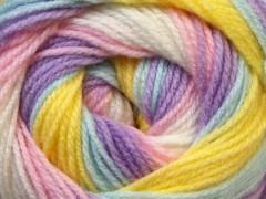 Baby batik - fialovomodrožlutá