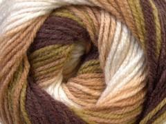 Baby batik - hnědozelenovelbloudíbílá