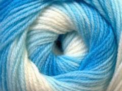 Baby batik - modrobílé odstíny