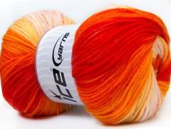 Baby batik - oranžovožlutorůžová