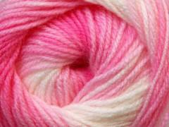Baby batik - růžovobílé odstíny