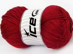 Baby bavlna 1 - tmavě červená