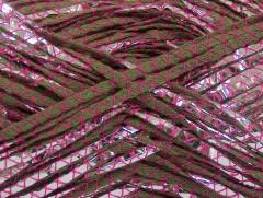 Bavlna Argento - khakifuchsiovostříbrná