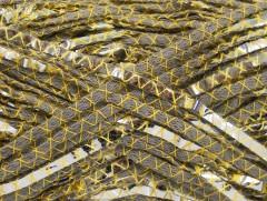 Bavlna Argento - khakižlutostříbrná