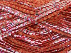 Bavlna Argento - měděnočervenostříbrná