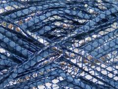 Bavlna Argento - modrostříbrná