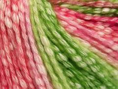 Bavlna pastel - růžovozelenokrémová