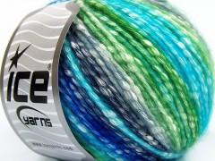 Bavlna pastel - tyrkysovonámořnickázelenokrémová