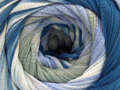 Bavlna tape color - khakimodrofialovokrémová