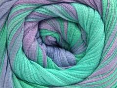 Bavlna tape color - mátovězelenofialová