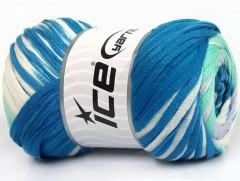 Bavlna tape color - modrobílomátová
