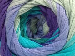 Bavlna tape color - purpurovotyrkysovokhakifialová