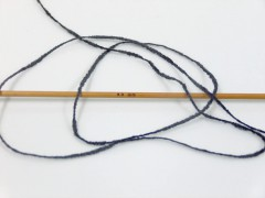Bavlna žinilka fajn - antracitově černá