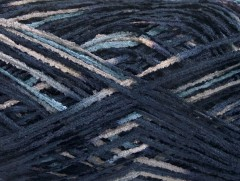 Bavlna žinilka fajn - námořnickámodrošedá