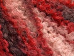 Bukle vlna worsted - kaštanovočervenorůžová