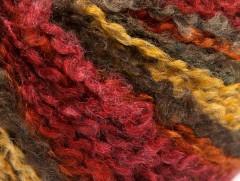 Bukle vlna worsted - velbloudívínovooranžovozlatožlutá