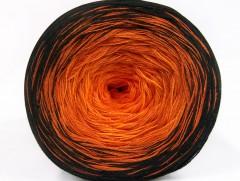 Cakes bavlna fajn - černooranžovo odstíny