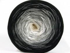 Cakes bavlna fajn - černošedobílá 2