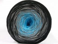 Cakes bavlna fajn - černošedotyrkysová 1