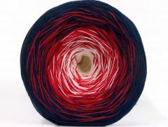 Cakes bavlna fajn - modročervenobílá