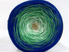 Cakes bavlna fajn - modrozelenokrémová