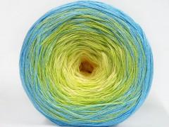 Cakes bavlna fajn - modrozelenožlutá