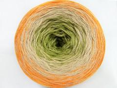Cakes bavlna fajn - oranžovobéžovozelená