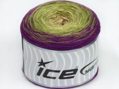 Cakes bavlna fajn - purpurovozelenobéžová
