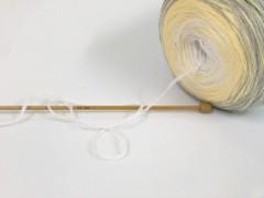Cakes bavlna fajn - šedosvětležlutobílá