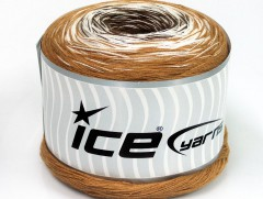 Cakes bavlna fajn - světlehnědobílá