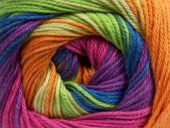 Camilla bavlna magic - levandulovoorchideovomodrovínovooranžovozelená