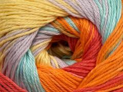 Camilla bavlna magic - světletyrkysovofialovooranžovožlutá