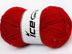Chain Paillette - červená