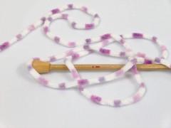 Chenille baby collors - fialovobílé odstíny