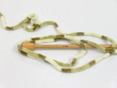 Chenille baby collors - zelenokrémová