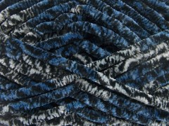 Chenille Safari - černomodrošedá