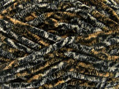 Chenille Safari - černošedožlutá